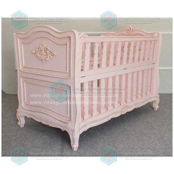Antique-Babybed,-PINK-(3)