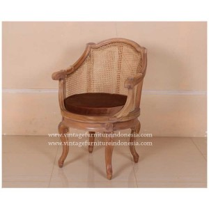 RAC-019A,-OFFICE-TURNING-ARM-CHAIR-REGENCY-LEG,-1-EUROPEAN-PINE-WAX-(3)