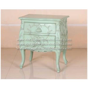 RBS-030-BS-2D,-LOUIS-XV-FLOWET-BELL-BEDSIDE-2-DRAWERS,-FRENCH-GREEN-HEAVY-DISTRES-NO-WORMHOLE-(8)